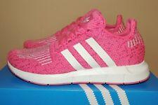 L@K! New Nib Girls Adidas Swift Run J Junior Sneaker B37117 Pink Shoes Sz 6 38