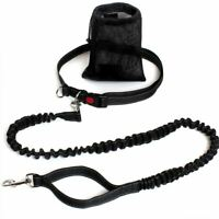 Hands Free Dog Walking Belt Pet Running Lead Waist Belt Jogging Hiking Coupler