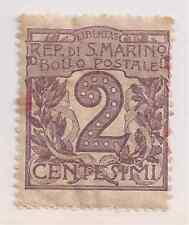 1903 SAN MARINO 2 C. VIOLETTO BRUNO NUOVO  SASSONE N° 34