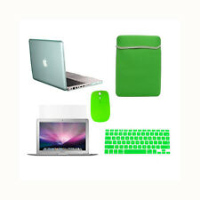 "5 in 1 GREEN Crystal Case fr Macbook Pro 13"" A1425 Retina+Key+LCD+BAG+MOUSE"