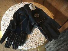 Harley-Davidson Kevlar Black Knit Gloves with Suede Palms.New. JUMBO.