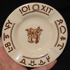 Wallace China 10-U Wild West Theme Restaurant Ware Ashtray Ash Tray