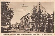 Sorau N.- L. Bahnhofstrasse  Postkarte 1928