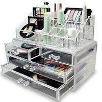 Cosmetic Makeup & Jewelry Organiser Clear Acrylic 20 Section beauty storage
