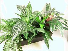 85cm Wide 'Zebra' Mixed Artificial Silk Greenery Plant Display