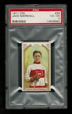 PSA 4  JACK MARSHALL  1911 C55 Imperial Tobacco C55 Hockey Card #29