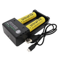 2pcs 18650 9800mAh Battery 3.7V Li-ion Rechargeable Batteries with USB Charger