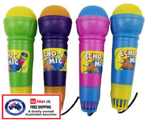 4x ECHO MICROPHONE mic voice changer toy kids birthday gift party bag filler