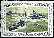 CHILE, CUERPO DE VOLUNTARIOS BOTES SALVAVIDAS 50 YEARS, MNH, SET OF 4, YEAR 1975