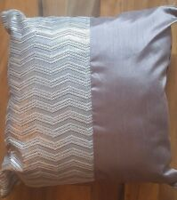 NEW LARGE NEXT SILVER GREY METALLIC SHIMMER SEQUIN CUSHION WITH PAD 50x50cms