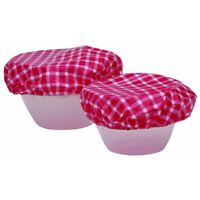 Set Of 7 Plastic Food Bowl Covers - Kitchen Craft Elasticated Seven Reusable