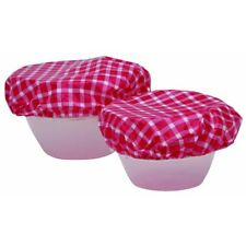 Kitchen Craft Elasticated Reusable Plastic Bowl Covers - Set of 7