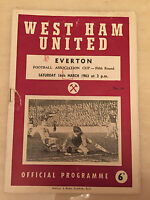 1962/63 FA CUP - WEST HAM v EVERTON - 5th Round, 16th March