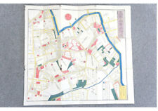 Antiques EDO AZABU Japanese Woodblock Print Map 1851 Edo Kirie-Zu