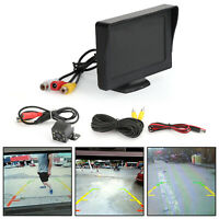 "4.3"" HD TFT LCD Car Monitor + Rear View Display Voiture Caméra de Recul Kit"