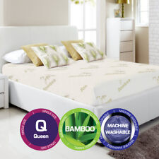 Queen Size Bamboo Cover Material Fully Fitted Mattress Protector/fitted Sheet