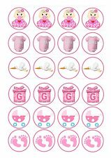 24 Edible cake toppers decorations Baby Girl Shower New ND4 it's a girl
