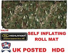 ARMY CAMO BASE S SELF INFLATING SLEEPING MATTRESS ROLL MAT / BAG - MTP MULTICAMO