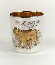 """Silver glass with Signs of Chinese Zodiac """"Dog"""""""