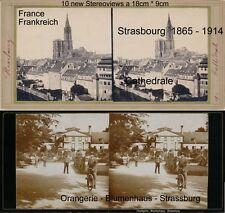 10 Stereoviews von Frankreich France ca ab 1865 Strasbourg Strassburg