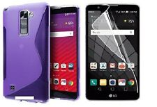 PURPLE S-LINE TPU CASE+ CLEAR SCREEN PROTECTOR FOR LG STYLO 2