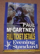 PAUL McCARTNEY CONCERT TOUR TICKET NEWSPAPER ADVERTISING / PROMO POSTER 1993