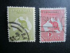 Australia, Scott#1-2, used