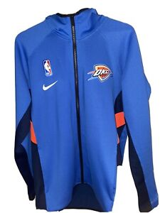 Nike Authentic NBA Men's L OKC THUNDER Showtime ThermaFlex Warm Up Hoodie 940150