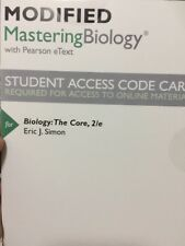 Modified MasteringBiology with Pearson eText  for Biology: The Core (2nd Edition
