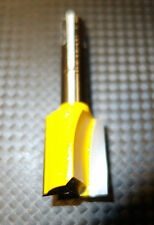 Oberfräse Fräser 8 er Dewald Nutfräser D= 18  mm H 20 . Gelb . 2 HM Holz Plexi
