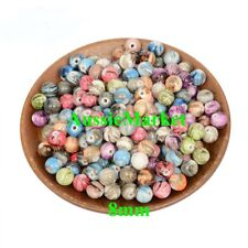 50 x beads acrylic plastic round mixed necklace bracelet 8mm crafts spacer new
