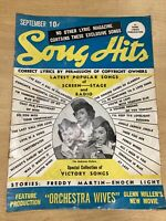 1942 SONG HITS MAGAZINE SEPTEMBER Andrew Sisters Freddy Martin Enoch Light