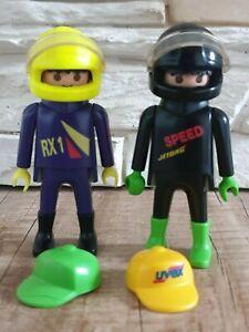 Playmobil 2 Rennfahrer Racing Figur Figuren mit Helm und Mütze