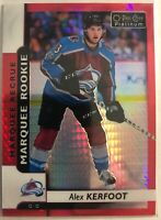 2017-18 Alex Kerfoot O-Pee-Chee Platinum Red Prism Marquee Rookies /199 Mint