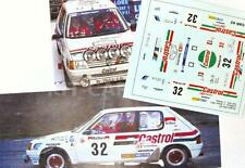 "DECAL CALCA 1/43 PEUGEOT 205 RALLY""CASTROL"" C. SAIZ RALLY CATALUNYA 1991"