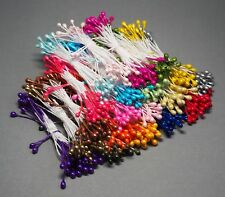 500 x 3mm Double Headed Pearlised Artificial Flower Stamens
