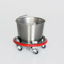 New MCM-540 Stainless Steel 12qt Kick Bucket w/Rubber Bumper Wall Protector