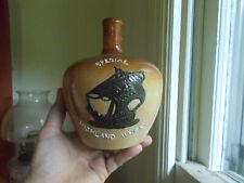 1890s Doulton Lambeth Special Highland Whiskey Stoneware Jug Emb Black Gallion