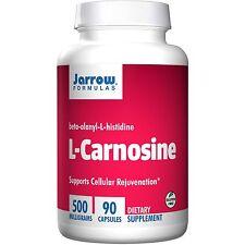 Jarrow Formulas, L-Carnosine, Beta-Alanyl-L-Histidine, 500 mg, 90 Capsules