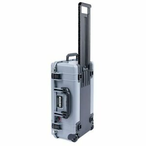 Silver & Black Pelican 1535 Air No Foam.  With wheels & Carry on approved.