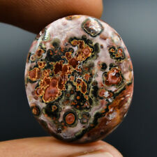 Cts 22.60 Natural Orbicular Leopard Skin Jasper Cabochon Oval Cab Loose Gemstone