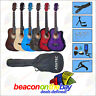 """38"""" Inch Acoustic Guitar with Neck Adjustment Truss Rod + Complete Accessory Set"""