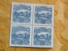 65-ETATS UNIS timbre de service One dollar bleu bloc de 4 neufs***