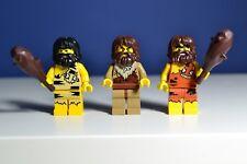 LEGO Caveman Minifigure 8683 Series 1 Lot Of 3 Caveman (city/promotion/series1)