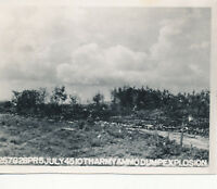 WWII 1945 US Army Okinawa Photo 10th Army Ammo Dump explosion