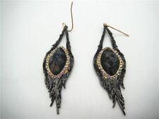BIN Alexis Bittar Maldivian Feather Earrings jewelry Black Tone