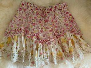 Loveshackfancy Becca Ruffle Skirt $295 XS NWOT