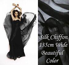 6 Yards Silk Chiffon Materialfabric dress Material Online Sale black
