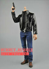 "1/6 Jack Reacher Agent Leather Jacket Set For 12"" Hot Toys PHICEN Male Figure"