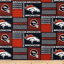 NFL DENVER BRONCOS  PATCH 100%  COTTON FABRIC  FAT QUARTER  18X28 INCHES